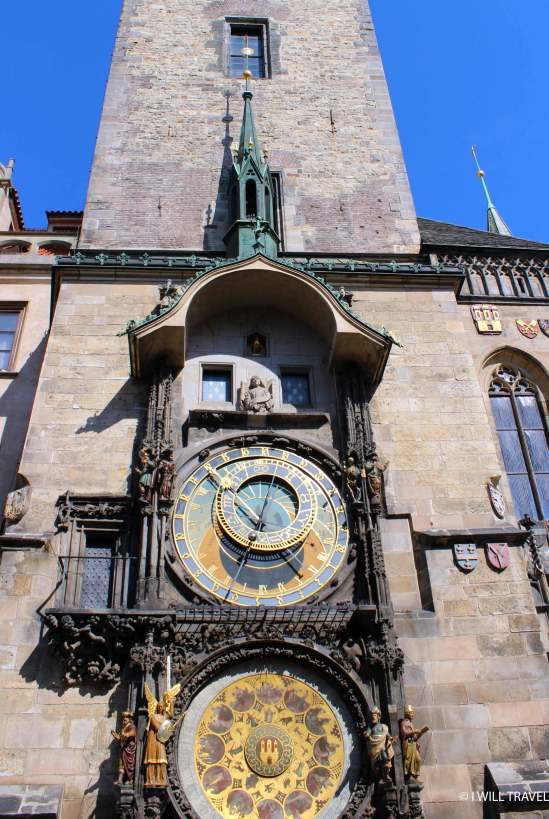 Prague's Astronomical Clock having the time of my life