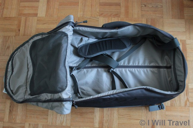 The inside of the Karrimor Global Equator