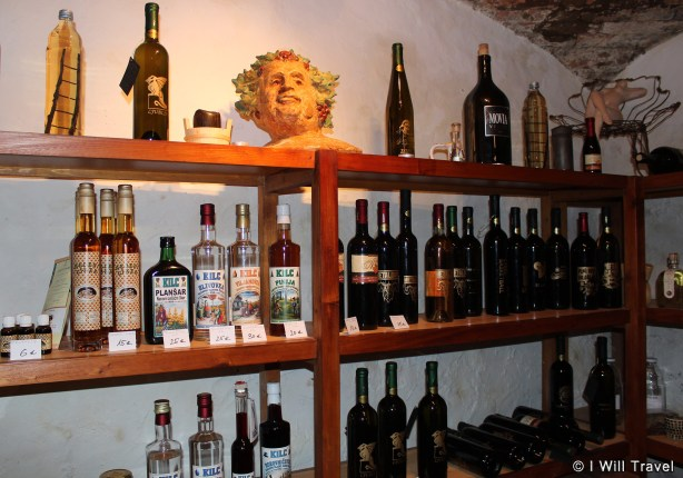 A great collection of vintage Slovenian wines and whiskeys