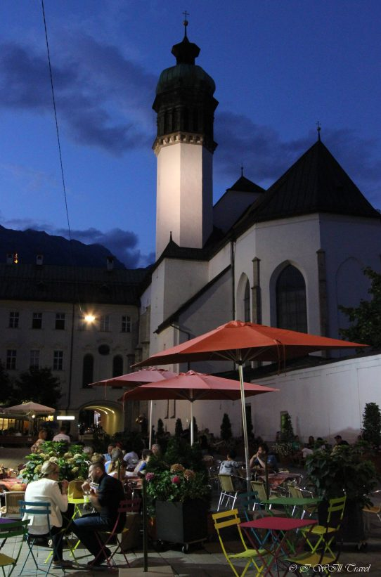 An outdoor patio in Innsbruck