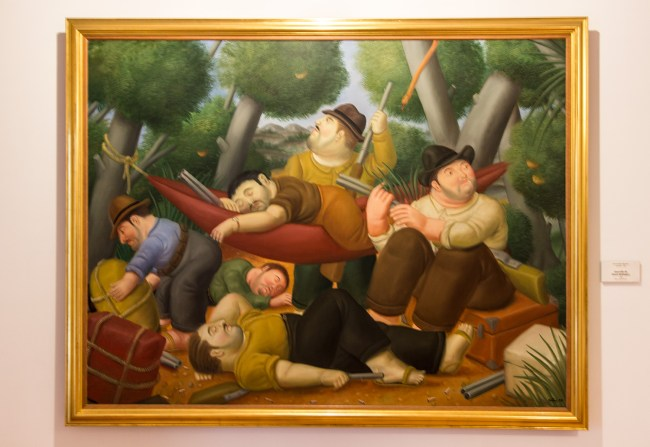 Guerrilla Of Eliseo Velasquez (1988): Oil on canvas - Fernando Botero