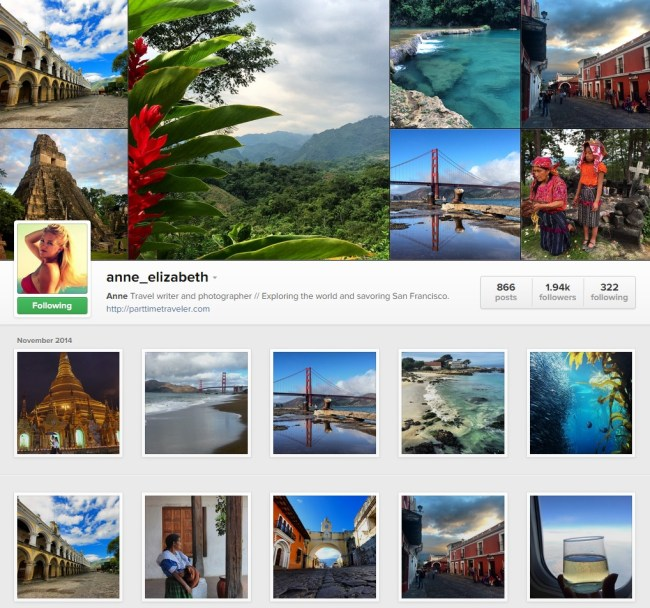 Part Time Traveler Instagram Gallery