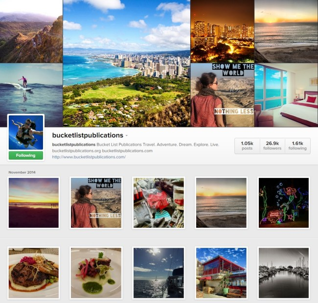 Bucklet List Publications Instagram Gallery