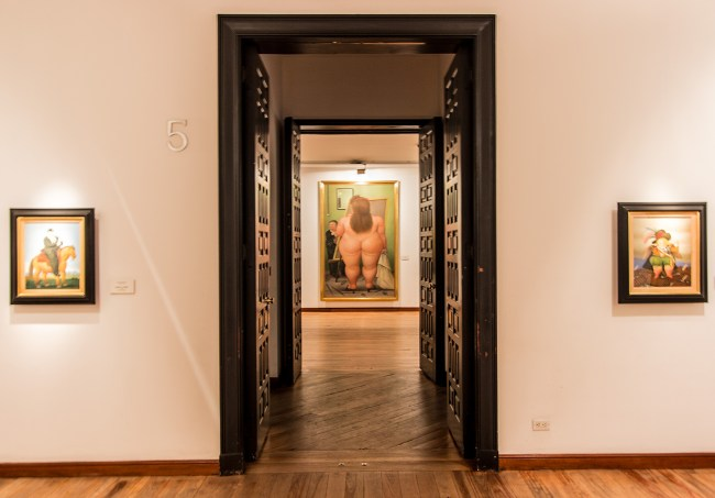 El Estudio (1990): Oil on canvas - Fernando Botero