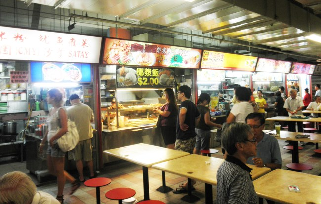 Hawker Centre in Chinatown, Singapore