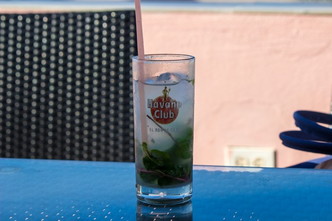 A mojito cocktail served in Havana.