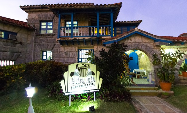 Front view of Al Capone's house in Varadero, Cuba