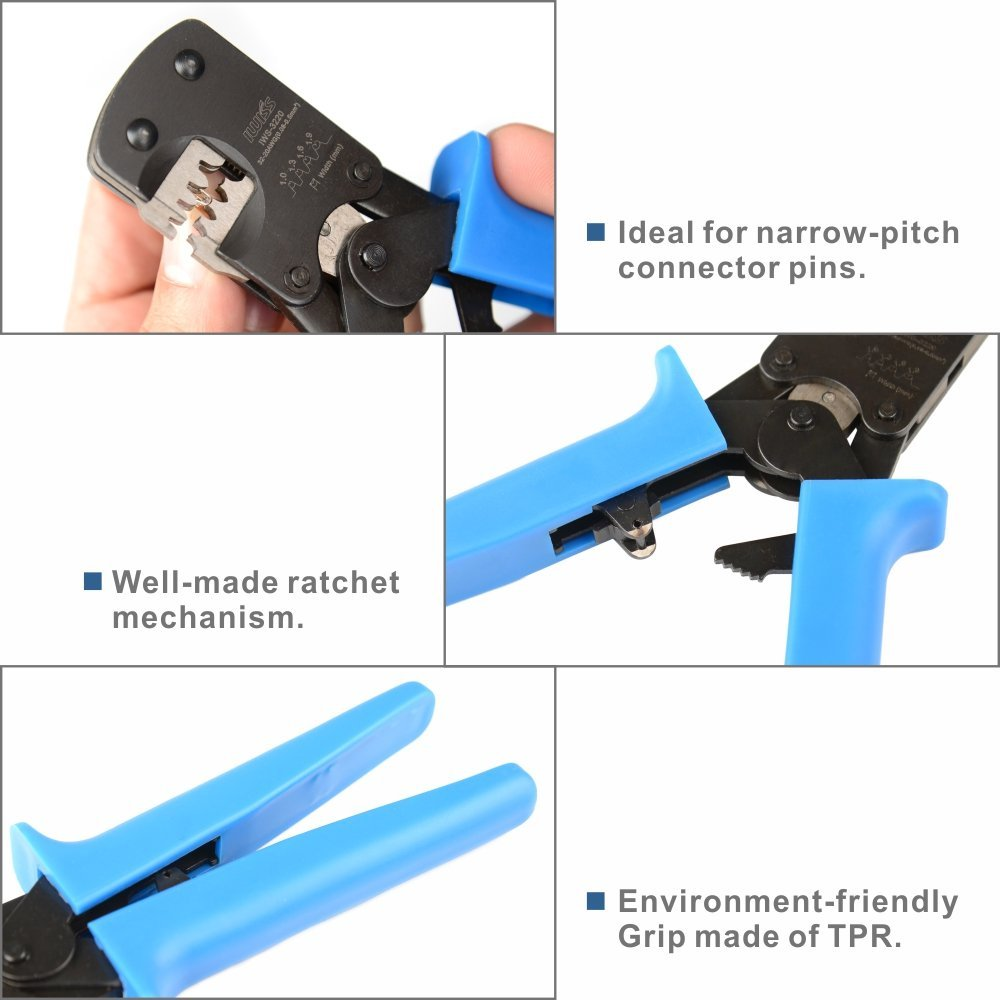 IWS-3220M) Micro Connector Pin Crimping Tool 0.03-0.52mm² 32-20AWG for Molex,JST