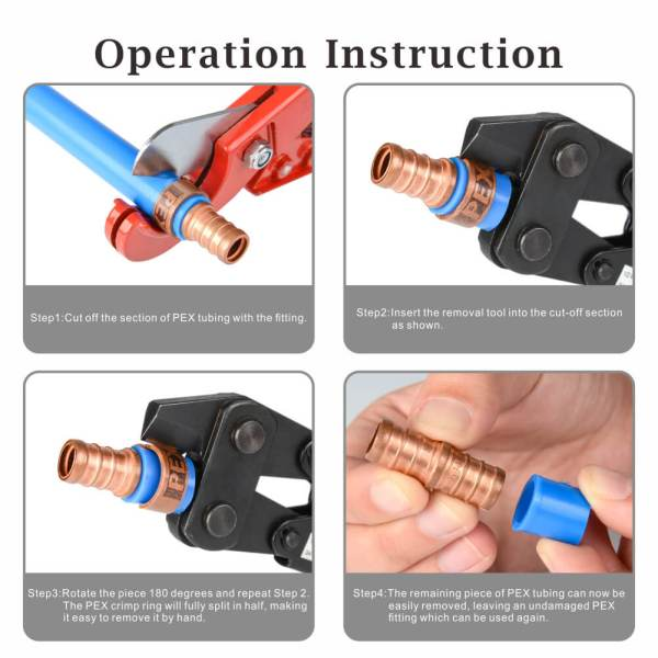 PEX-1210C PEX Crimp Ring Removal Tool opetation instruction