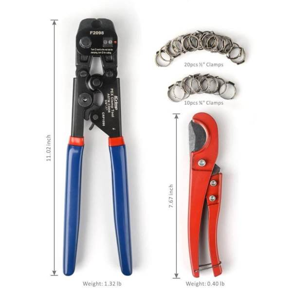 pex cinch tool F2098 size description