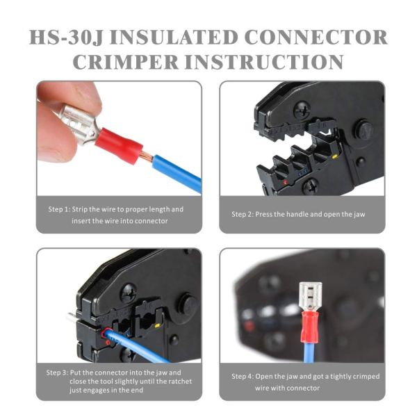 285pcs insulated terminals and crimper IWS-30J-KIT instruction