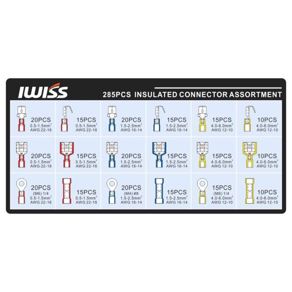 285pcs insulated terminals and crimper IWS-30J-KIT spec