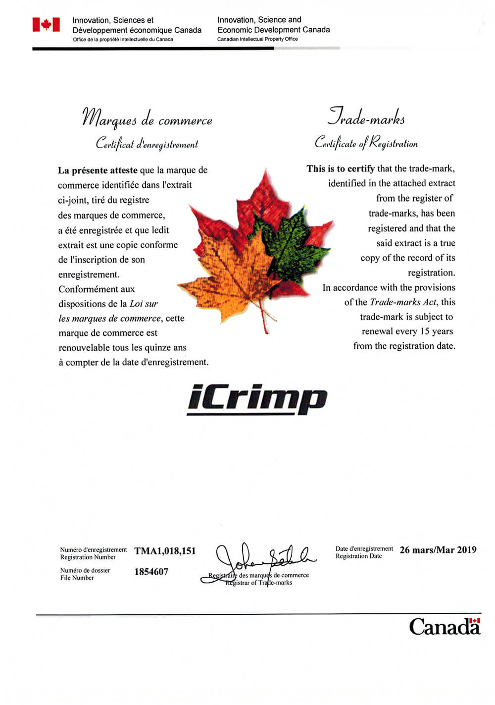 IWISS TOOLS Canada iCrimp TMA1018151