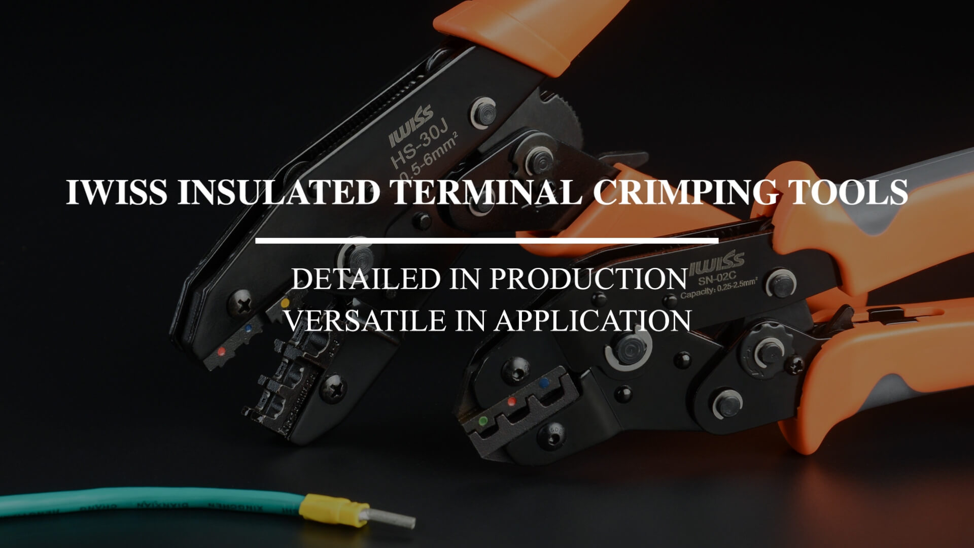 IWISS INSULATED TERMINAL CRIMPING TOOLS