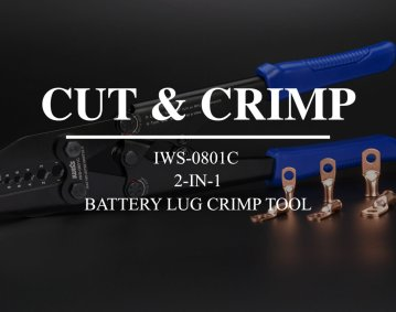 battery lug crimp tool with cutting function