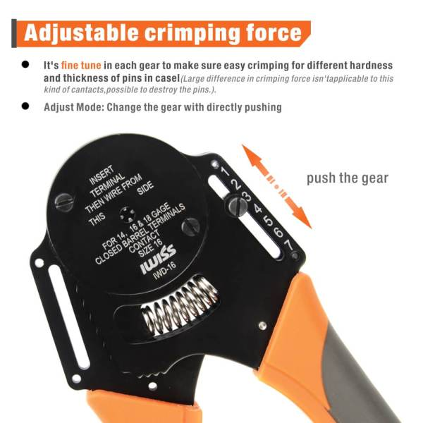 iwd-16 adjustable crimping force