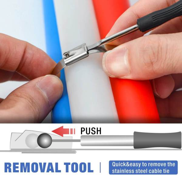 WCT322 ss cable tie gun with removal tool