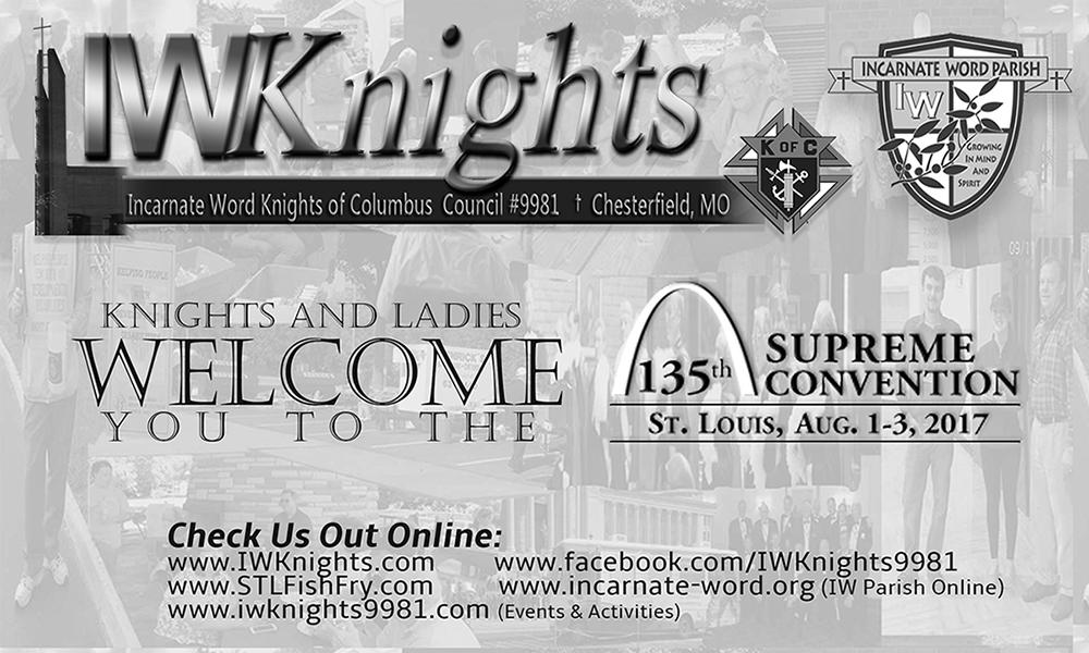 IWKnights Supreme Convention Half Page Ad (B&W)