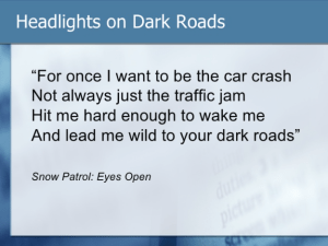 "Derek Law: ""highlights on dark roads"""