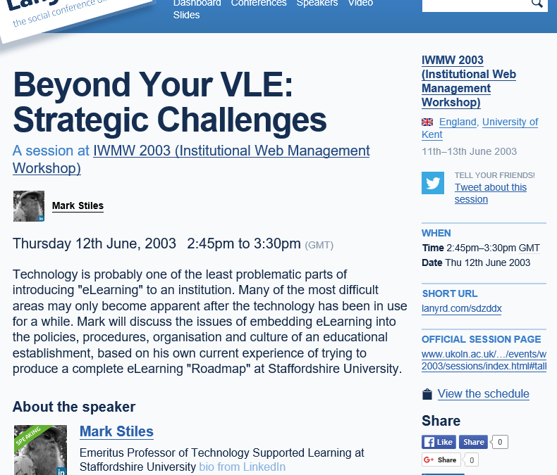 Beyond Your VLE: Strategic Challenges