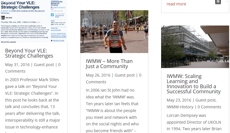 Reopening of the IWMW Blog
