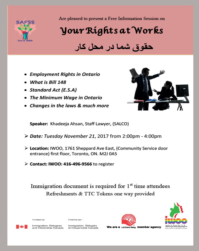 Your right at work workshop