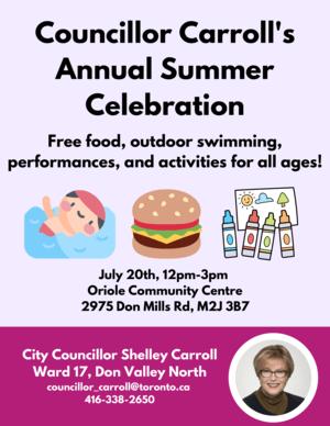 Councillor Carroll`s Annual Summer Celebration