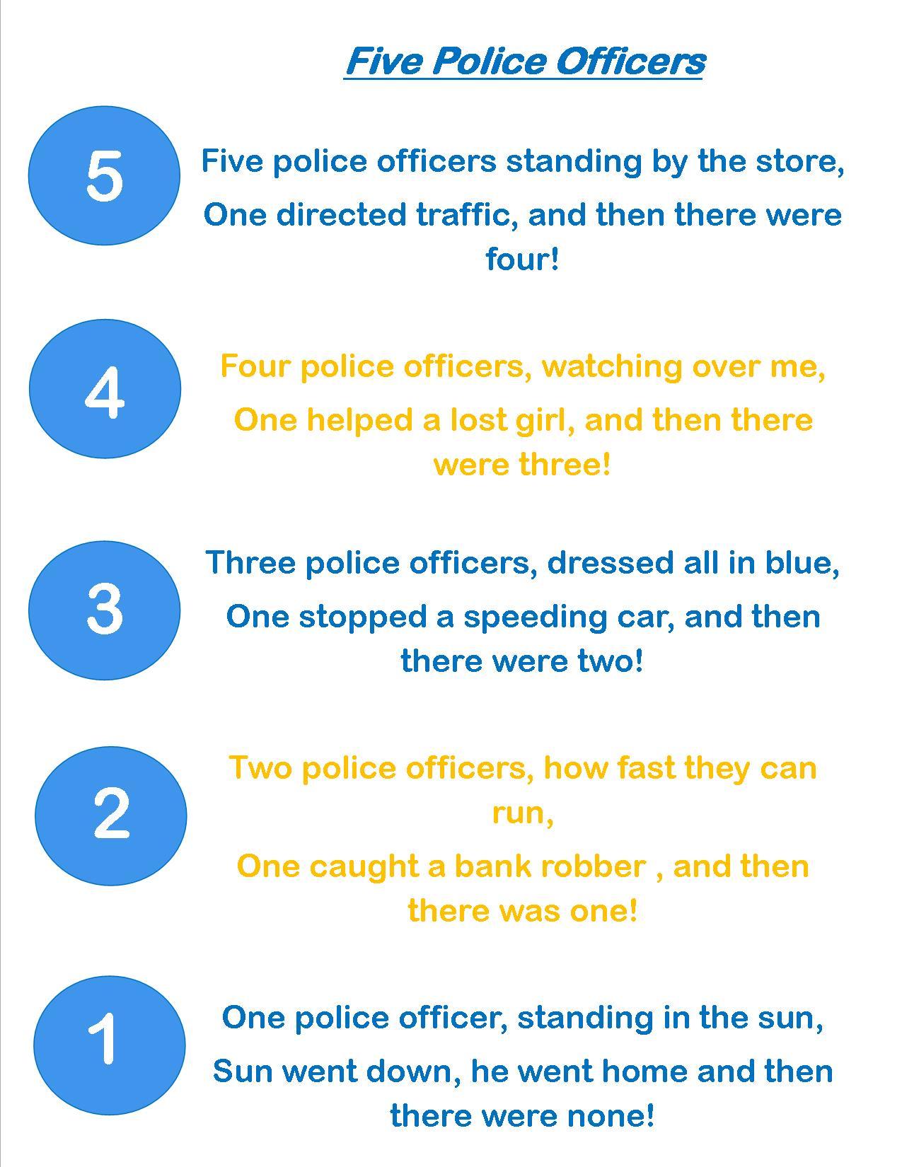 Preschool Activities For Police Officers