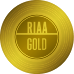 RIAA Gold Certification — 500,000 units