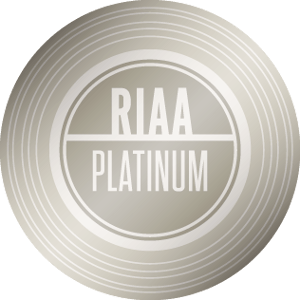RIAA Platinum Certification — 1,000,000 units