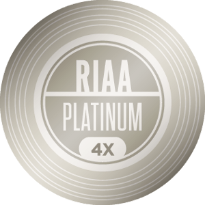 RIAA 4X Platinum Certification — 4,000,000 units