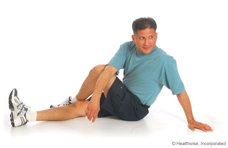 Iliotibial band and buttock stretch