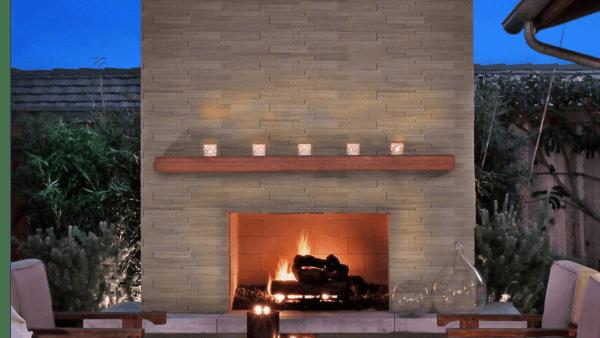 Fireplace - Gray Oak 3D Honed