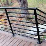 Horizontal Metal Railing For Deck Great Lakes Metal Fabrication