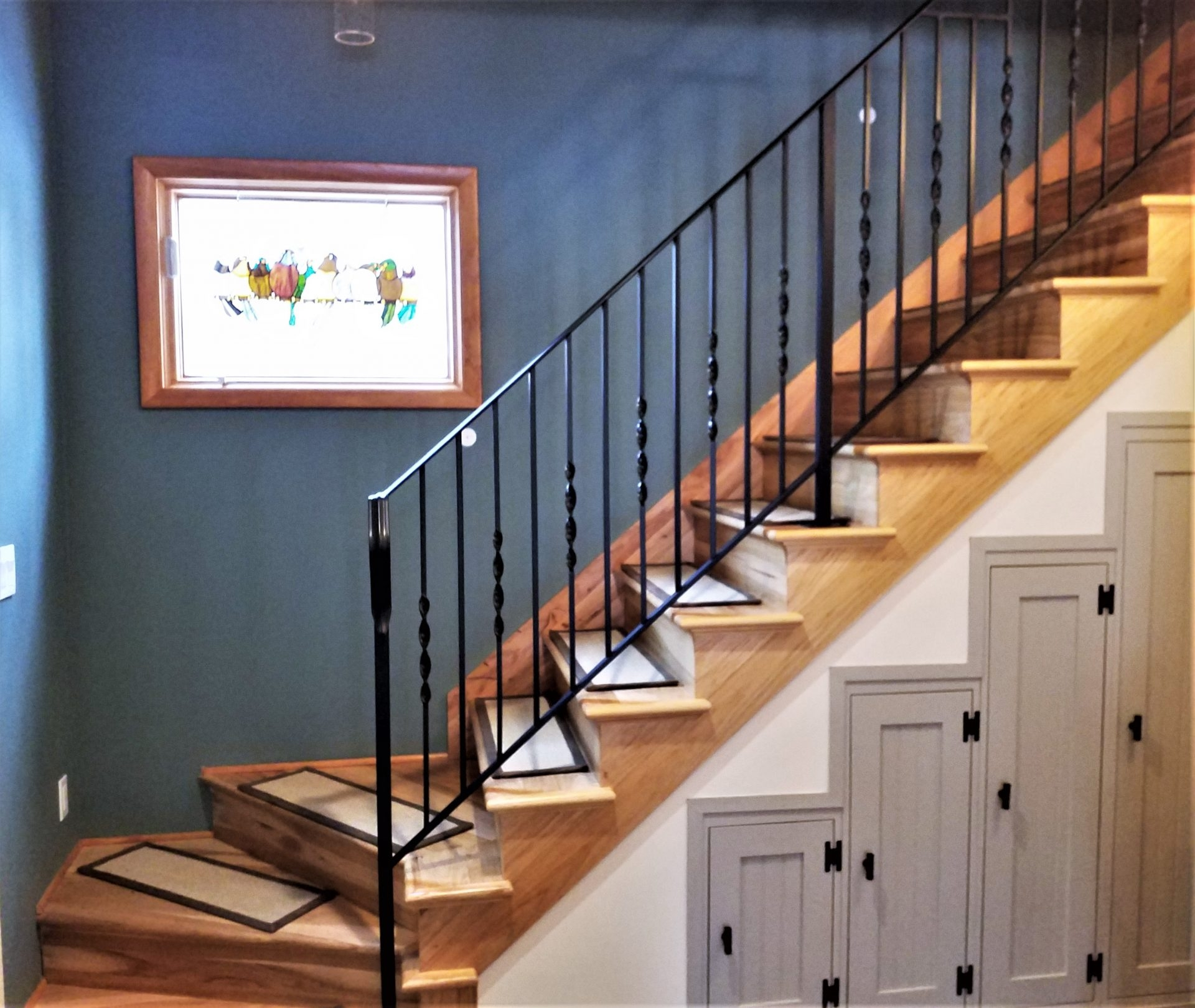 Twisted Wrought Iron Stair Railing Great Lakes Metal Fabrication   Wrought Iron Stair Railings Interior Cost   Stair Parts   Iron Staircase Railings   Rod Iron Balusters   Wood   Stair Spindles