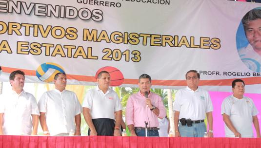 Alcalde EFB inaugura Juegos Magisteriales del SNTE