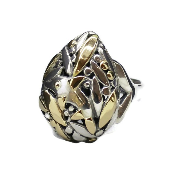 Solid Gold and Silver Ring