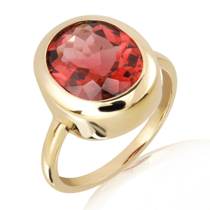 Rubylite Handmade Gold Ring