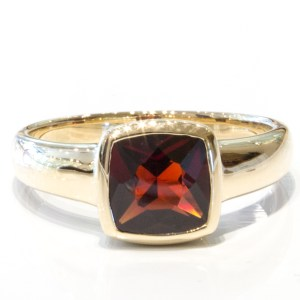 Garnet Handmade Gold Ring