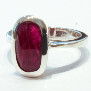 Handmade Silver Ring with Ruby