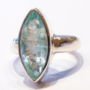 Aquamarine in Handmade Silver Ring