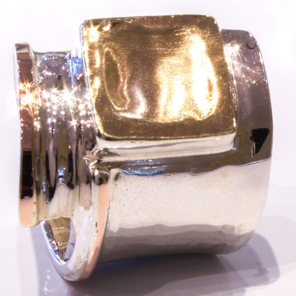 Yellow Gold and Silver Ring