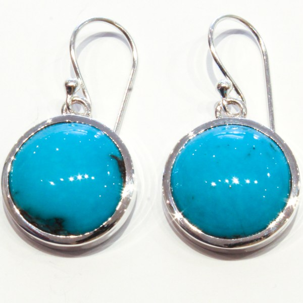 Arizona Turquoise Handmade Earrings in Silver