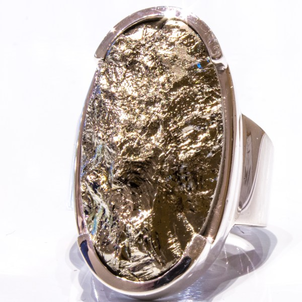 Pyrite in Solid Handmade Silver Ring