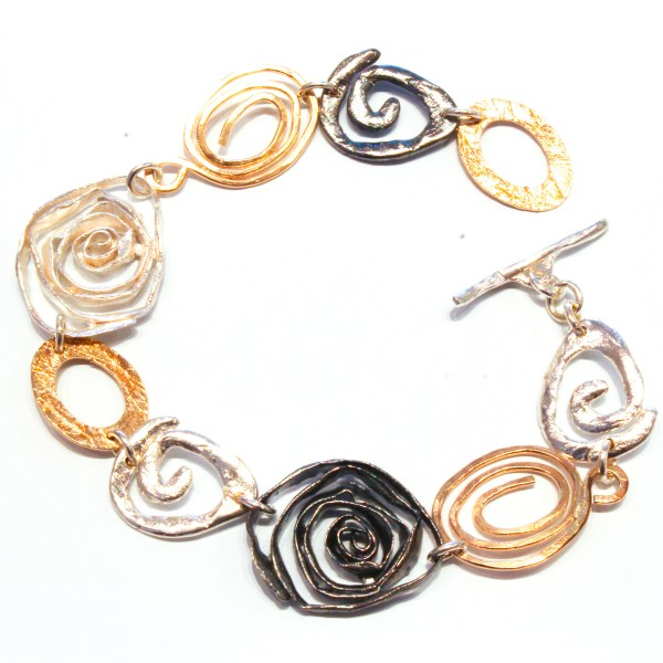 Silver and Gold Handmade Bracelet