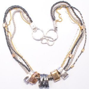 Gold and Silver Handmade Necklace