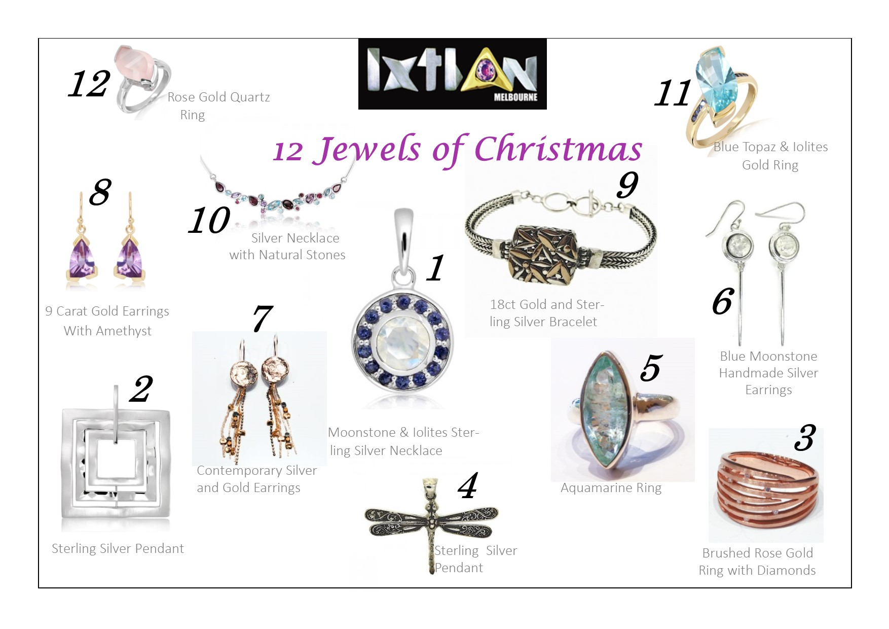 12 Great Christmas ideas From Ixtlan Melbourne