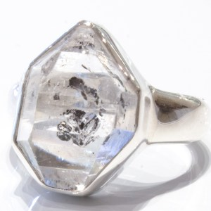 Herkimer Diamond Handmade Silver Ring