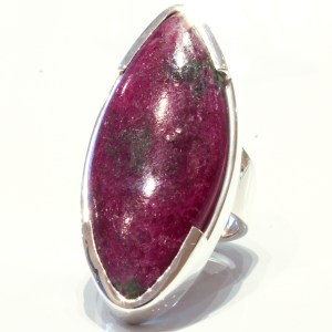 Large Ruby in Zoisite Handmade Ring