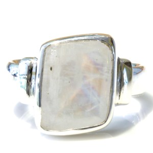 Faceted Blue Moonstone Handmade Ring